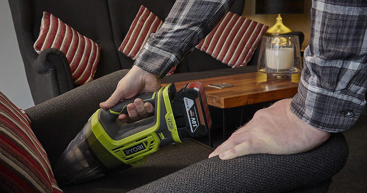 Ryobi One+ hand vac with Bosch Professional battery