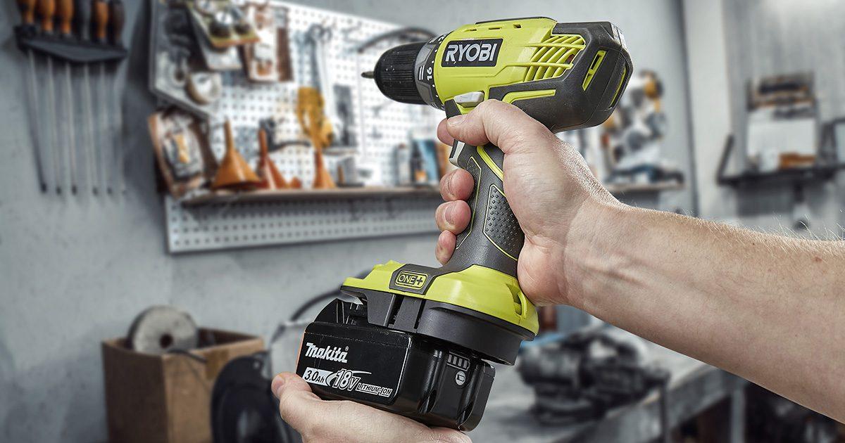 Use your 18V Makita battery with Ryobi One+ tools