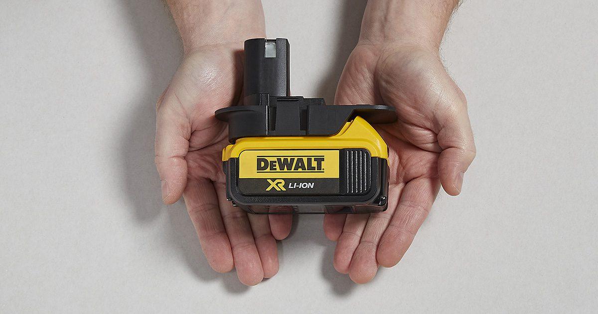 DeWalt battery and Badaptor