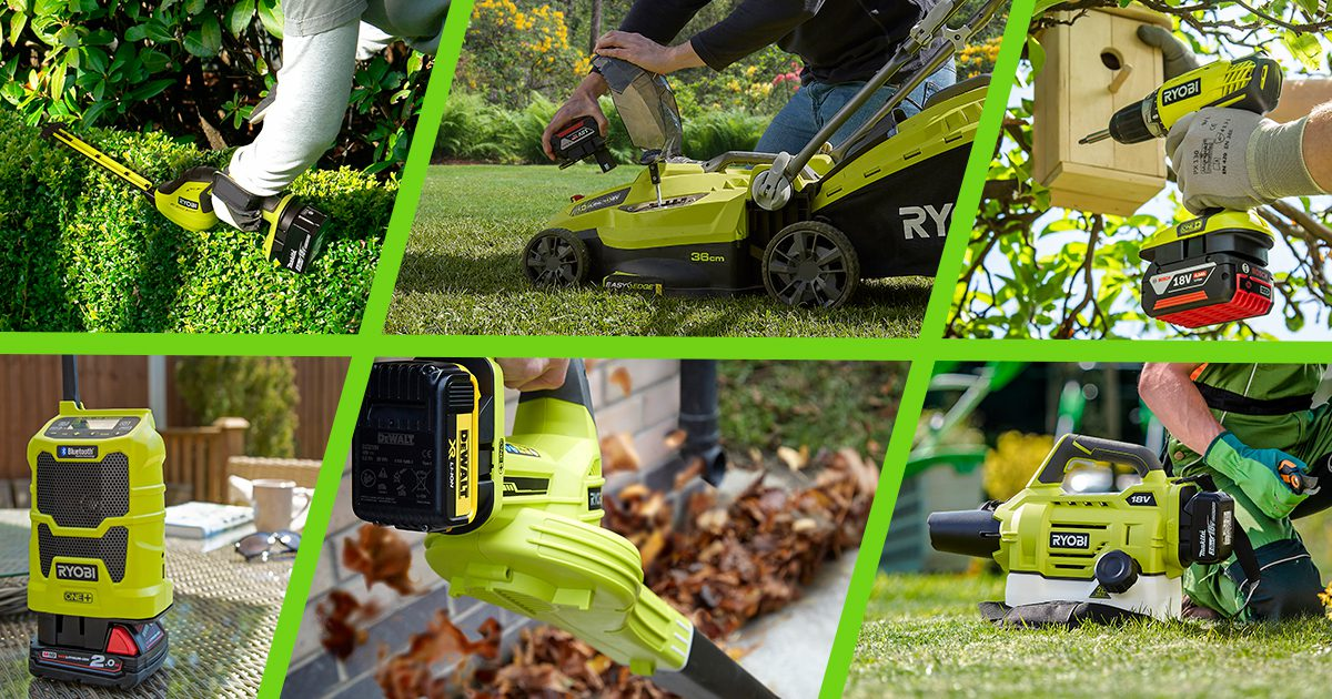 Garden, cleaning, crafting and camping tools from Ryobi One+